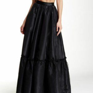 TOV LOS ANGELES BLACK MAXI FLOWING SKIRT 38 XS S